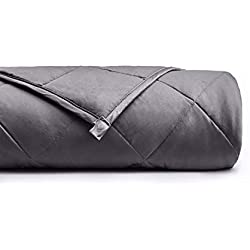 YnM Weighted Blanket (15 lbs, 48''x72'', Twin Size) | 2.0 Cool Heavy Blanket | 100% Cotton Material with Glass Beads