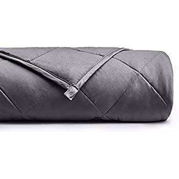 YnM Weighted Blanket (20 lbs, 60''x80'', Queen Size) for People Weigh Around 190lbs | 2.0 Cozy Heavy Blanket | 100% Oeko-Tex Certified Cotton Material with Premium Glass Beads, Dark Grey ...
