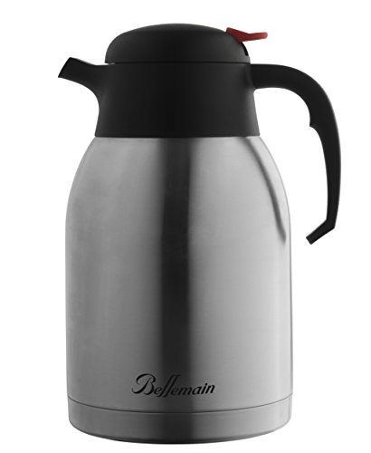 Wide Mouth Insulated Carafe - Bellemain Premium Thermal Coffee Carafe Stainless Steel 2 Liter