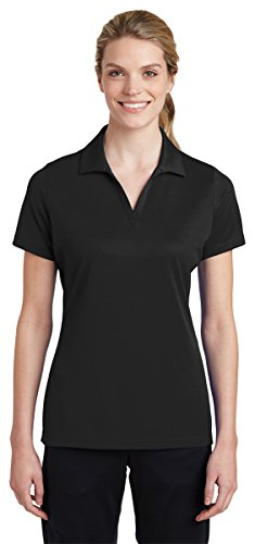 Sport-Tek Women's Breathable Polo Shirt_Black_M