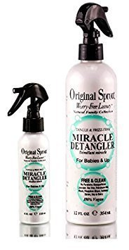 Original Sprout Miracle Detangler 12 ounce & 4 ounce travel size (2 piece Set) by Original Little Sprout by D'Organiques