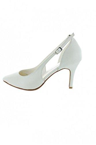 429122e6c8d7b Dymastyle Chaussure Cérémonie pour Femme Ouvertures côtés Coloris Blanc  cassé - Blanc cassé - P-