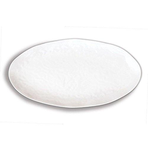Michel Design Works Melamine Oval Serving Platter, White on White
