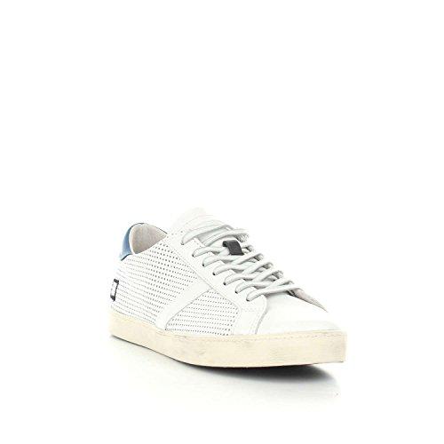 D.a.t.e. Sneaker Hill Low Pop in Pelle Bianca traforata Weiß