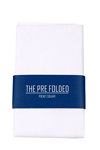 Pre-Folded Fashion Pocket Square Hanky for Men - Solid Dot Paisley Plaid Folded Hankies by The Perfect Necktie (Image #1)