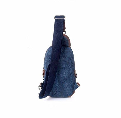 8 singola borsa 18 il Xxszkaa viaggio zaino spalla A1 cm pieghevole all'aperto pacchetto vintage petto 31 tela A3 cerniera cZwqAHaSw