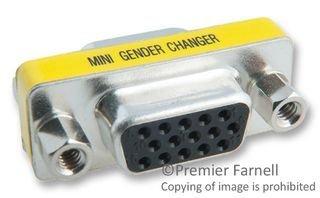 1 piece GC ELECTRONICS 45-564-BU D-SUB GENDER CHANGER DB15 FEMALE-FEMALE