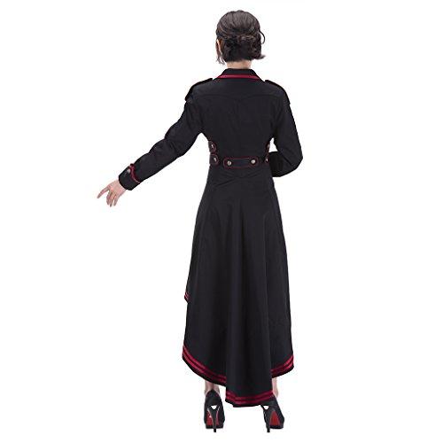 ... Cosplayitem Damen Steampunk Mantel Rock Gothic Kleidung Vampir Kostüm  Halloween Schwarz Schwarz SxctpjCP ...