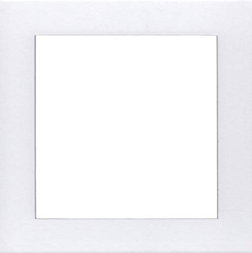 - Pack of 5 16x16 Square White Picture Mats with White Core Bevel Cut for 12x12 Pictures