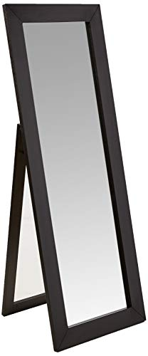Coaster Home Furnishings Beveled Frame Floor Mirror Dark Cappuccino