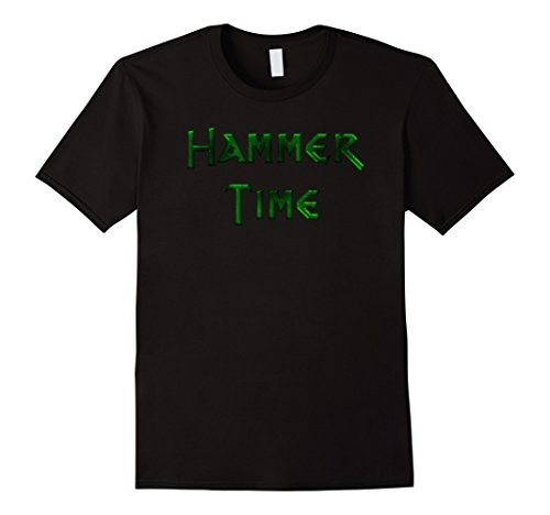 Hammer Time T-shirt - Mens Hammer Time - Slogan T Shirt Medium Black