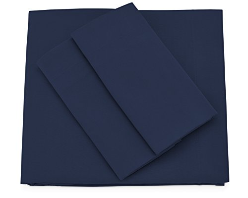 Premium Bamboo Bed Sheets - Cal King Size, Navy Blue Sheet Set - Deep Pocket - Ultra Soft Cool Bedding - Hypoallergenic Blend From Natural Bamboo - 1 Fitted, 1 Flat, 2 Pillow Cases - 4 Piece