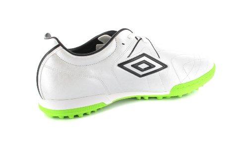 UMBRO - Herren Indoor Fußballschuhe - Silber/Grün Schuhe in Übergrößen