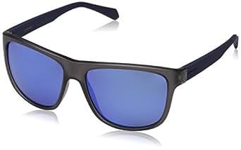 Polaroid Sunglasses PLD 2057/s Polarized Rectangular Sunglasses, Matte Blue, 57 mm