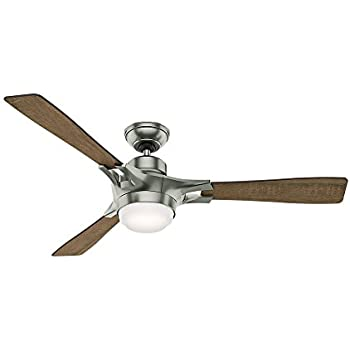 Amazon hunter 59224 signal ceiling fan with wifi capability 54 hunter 59224 signal ceiling fan with wifi capability 54 inch satin nickel aloadofball Image collections