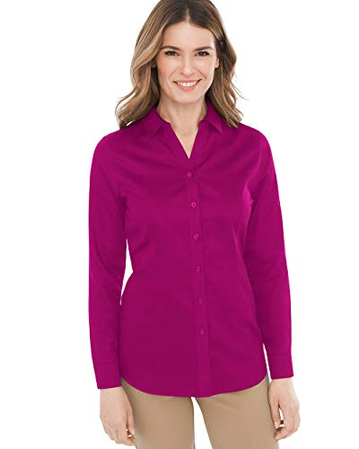 (Chico's Women's No-Iron Sateen Caroline Shirt Size 16/18 XL (3) Pink)