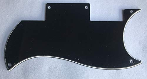 For Epiphone SG Special Guitar Pickguard Scratch Plate (3 Ply Black)