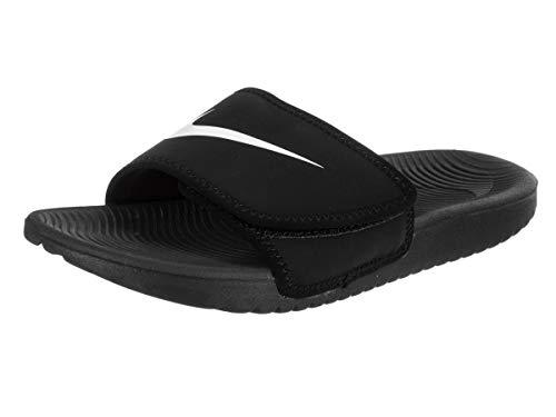 Nike Boy's Kawa Adjust Slide Sandal (GS/PS) Black/White Size 2 M ()