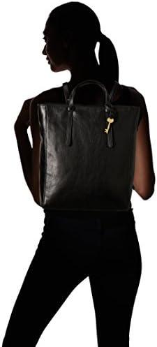 Fossil Women's Camilla Leather Convertible Backpack Purse Handbag