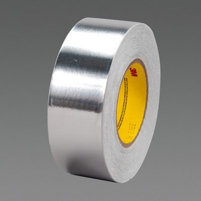 3M (3302) Conductive Aluminum Foil Tape 3302 Silver, 4 in x 18 yd 3.6 mil Plastic Core