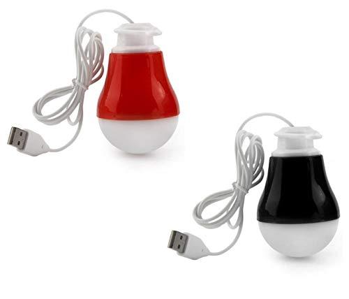 FEDUS Portable LED USB Light Lamp/USB Bulb Mini Night Light  Multicolour    Pack of 2