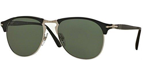 Perrsol Men's Sunglasses PO8649S 95/58 Black Silver/Green Polarized Lens - Po8649s