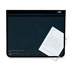 Artistic 19'' x 24'' Logo Pad Lift-top Desk Pad, Black/Clear by Artistic (Image #1)