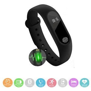 Pulsera inteligente M2 Fitness, cuenta pasos, Km recogidos, calorias perdidas, pulsaciones cardiacas