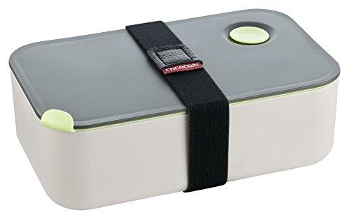 Lunchbox - Praktische Brotdose - Bento Box - Jausenbox - Lunch Box mit Trennwand - Perfekt für Büro - Schule - Kinder Garten - Grau
