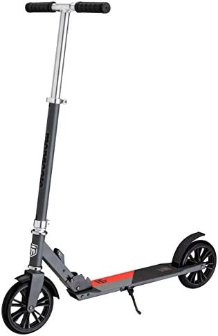 Mongoose Trace Foldable Kick Scooter Series, Featuring Quick-Release Adjustable Height Handlebars and Kickstand with 100-120-180-205mm Wheels, Multiple Colors Available Renewed