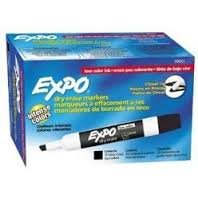 Expo Low-Odor Dry Erase Markers, Chisel Tip,12 x 12-Pack, Black total of 144 markers by Expo (Image #1)