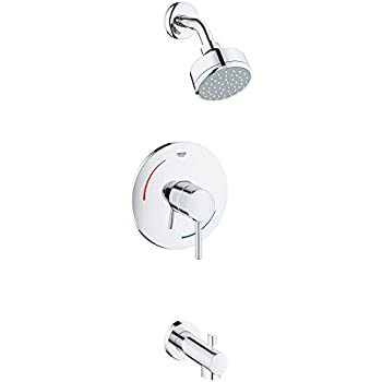 grohe concetto 2spray tub u0026 shower faucet in starlight chrome