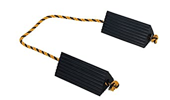 """Vestil AC-13 Rubber Wheel Airline Chock with Rope, 10"""" Width x 4-1/2"""" Height x 5"""" Length"""