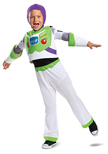 Toy Story Buzz Lightyear Toddler Halloween Costume (Buzz Lightyear Classic Toy Story 4 Child Costume, M)