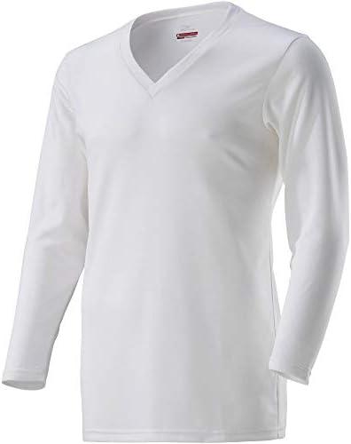 ブレスサーモ アンダーウェア(デイリー用・薄手) Vネック長袖シャツ C2JA8610 メンズ