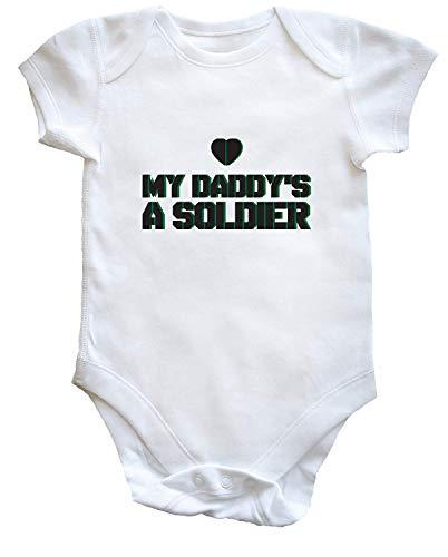(Tamengi My Daddy's a Soldier Baby Vest Bodysuit Romper Boys Girls)