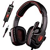 SADES SA708GT Stereo Gaming Headset for PS4, PC, New Xbox One Controller, Noise Cancelling Over Ear Headphones with Mic, Bass Surround, Soft Memory Earmuffs for Laptop Mac Nintendo Switch Games Mobile