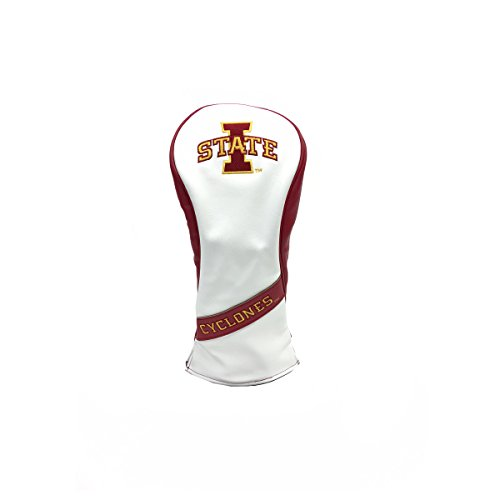 State Fairway Stand Bag - PRG Americas NCAA Iowa State Cyclones Leatherette Fairway Wood Cover, White