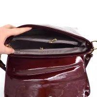 Alligator Handbag Bag Patent Evening Burgundy Women Shoulder for Leather Clutch Pattern Bag qEOwCwtcxS
