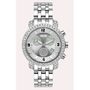 Joe Rodeo Diamond Men's Watch - CLASSIC silver 3.5 ctw