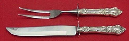 Meadow Rose by Wallace Sterling Silver Steak Carving Set 2 Piece