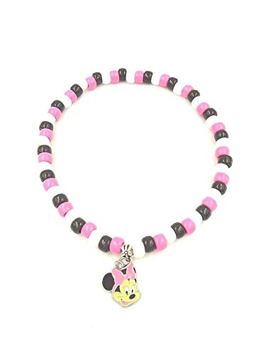 Girls Pink Minnie Mouse Inspired Necklace