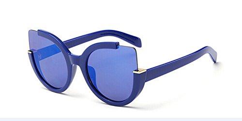Damen Brillen Frauen Für Designer Rojo Sonnenbrille Sommer Blue Katzenaugen Sonnenbrille Blanco Schatten Gläser Marke KXLEB 1n4vHPAwnx