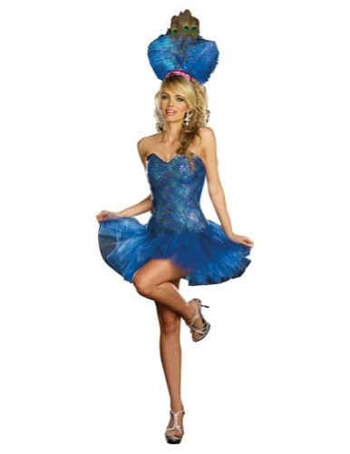 Peacock For Adults Costume (Peacock Envy Adult Costume -)