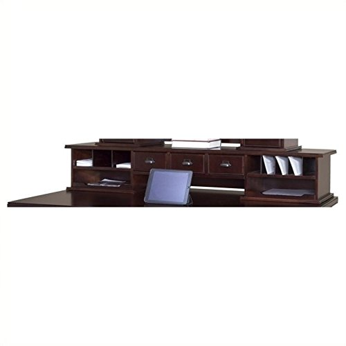 Kathy Ireland Home by Martin Tribeca Loft Cherry Long Reception Hutch - Martin Furniture Oak Executive Desk