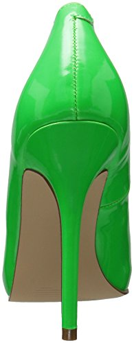 Pleaser Damen Amuse-20 Pumps, Schwarz Neon Green Pat