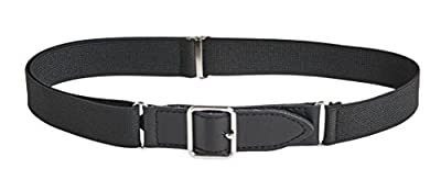 Sportoli Kids Elastic Adjustable Leather Front Stretch Belt with Velcro Closure
