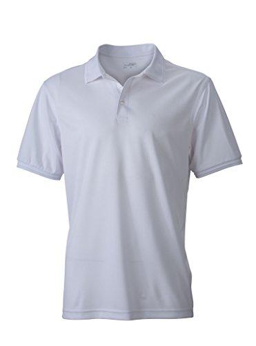 Herren Active Polo   James & Nicholson   JN 576, Farbe:white;Größe:S