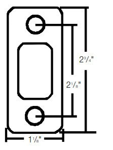 Rounded Strike Plate (Kwikset 85279 1-1/8