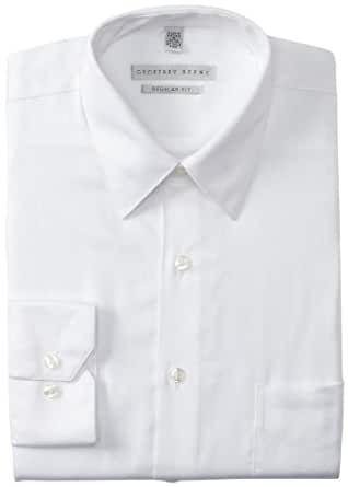"Geoffrey Beene Men's Regular Fit Sateen Dress Shirt, White, 14.5"" Neck 32""-33"" Sleeve"